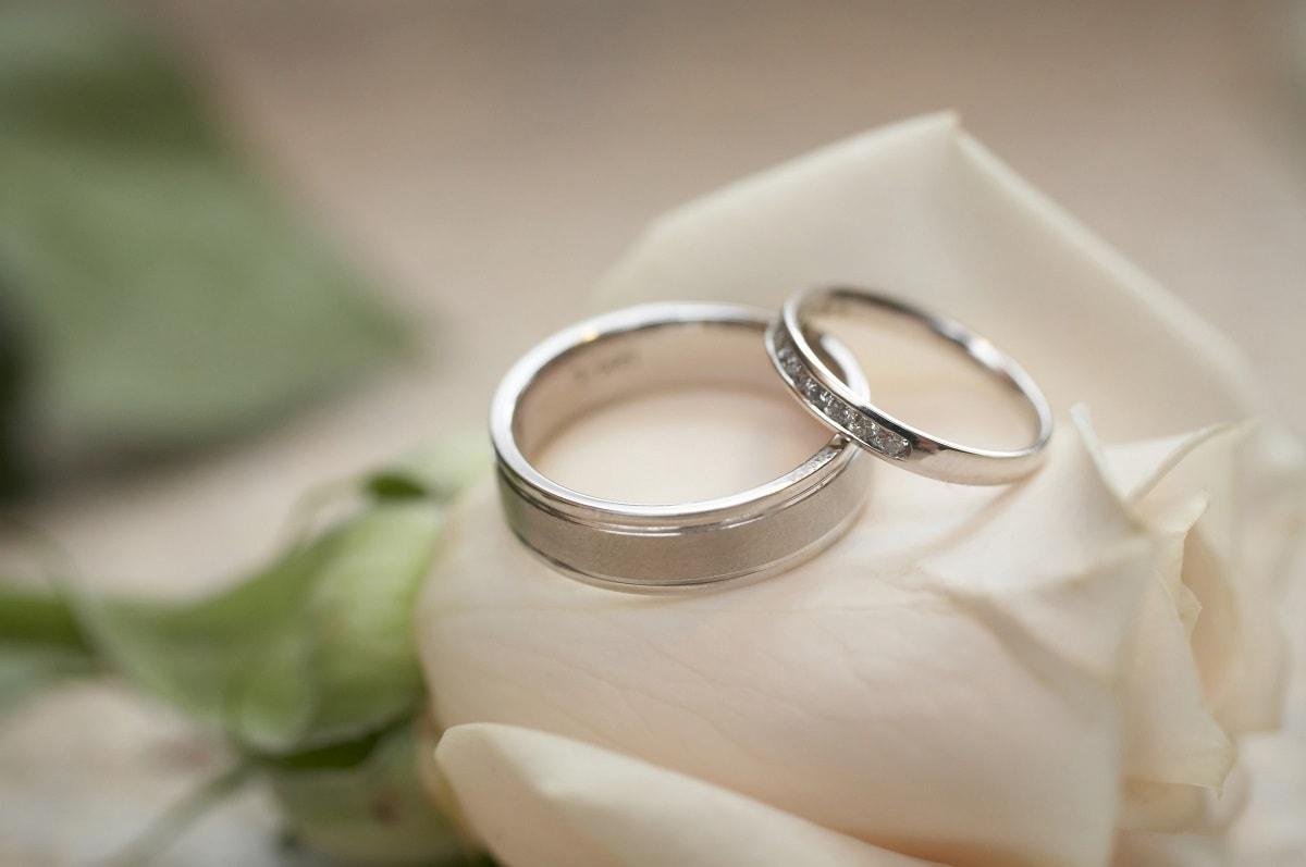 To forlovelsesringe i sølv