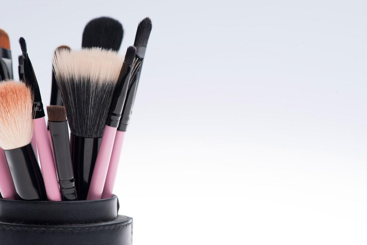 Syntetiske makeup børster