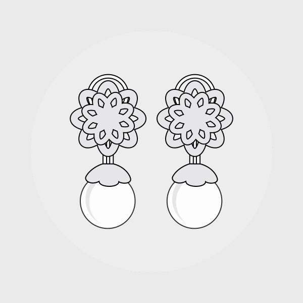 Clips øreringe