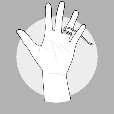Mål ringstørrelse med snor 1