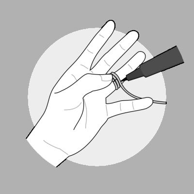Mål ringstørrelse med snor 2