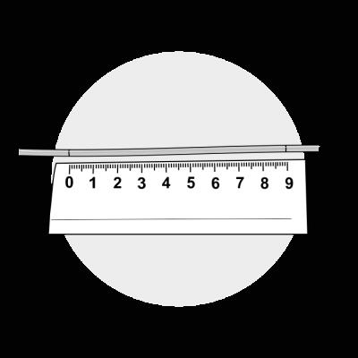 Mål ringstørrelse med lineal