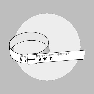 Mål ringstørrelse med fingermål