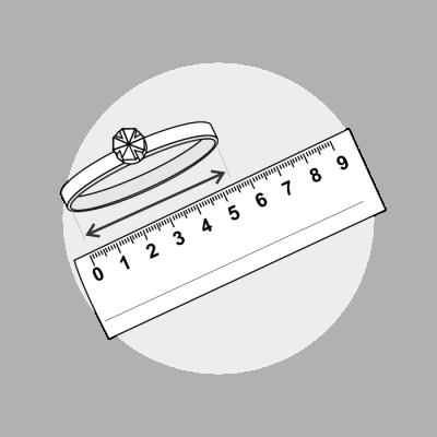 Mål ringstørrelse diameter