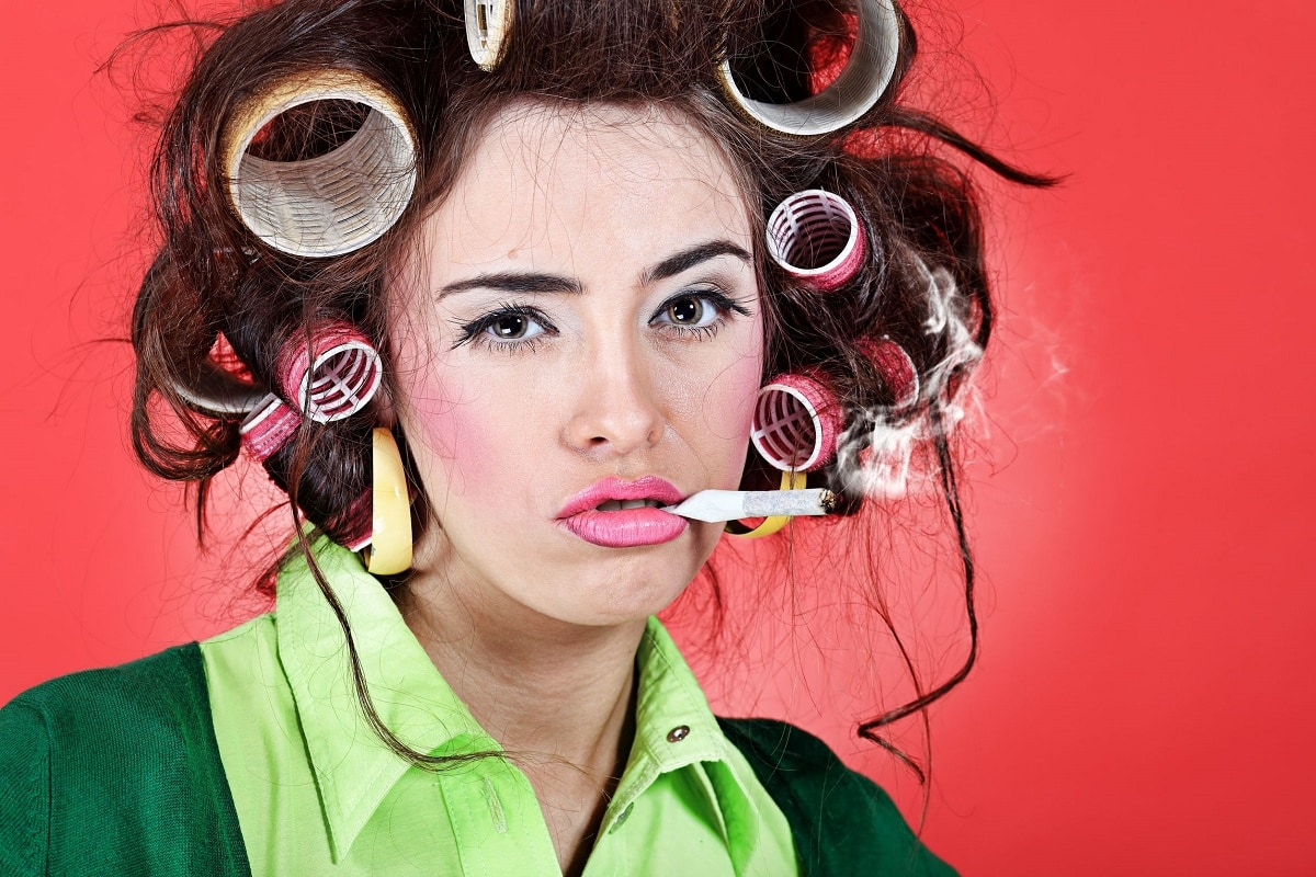 Kvinde der ryger