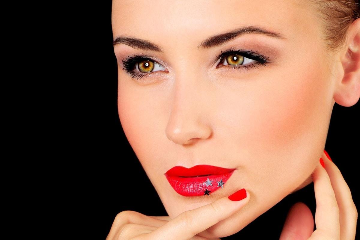 Rød læbestift