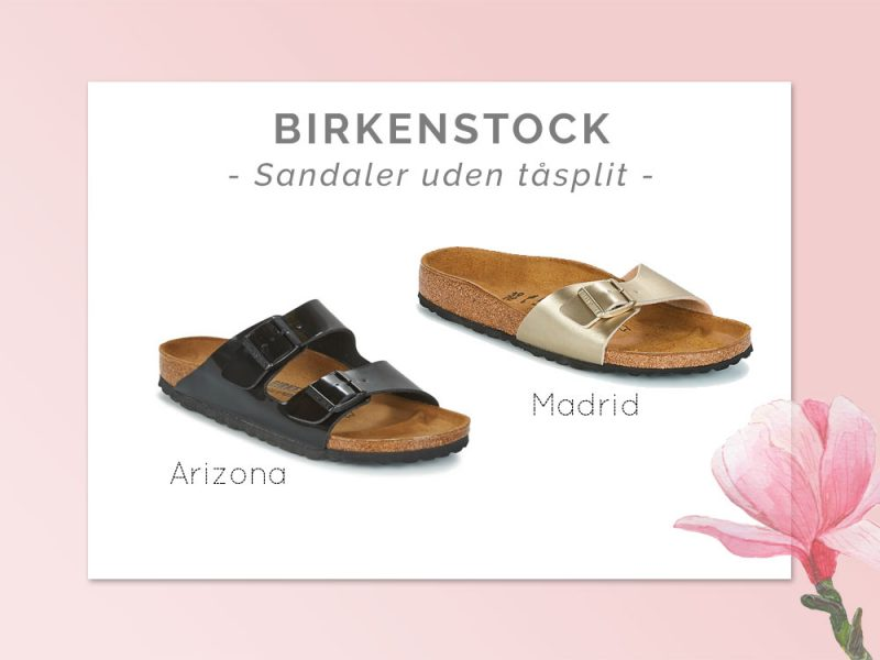 Birkenstock sandaler med remme