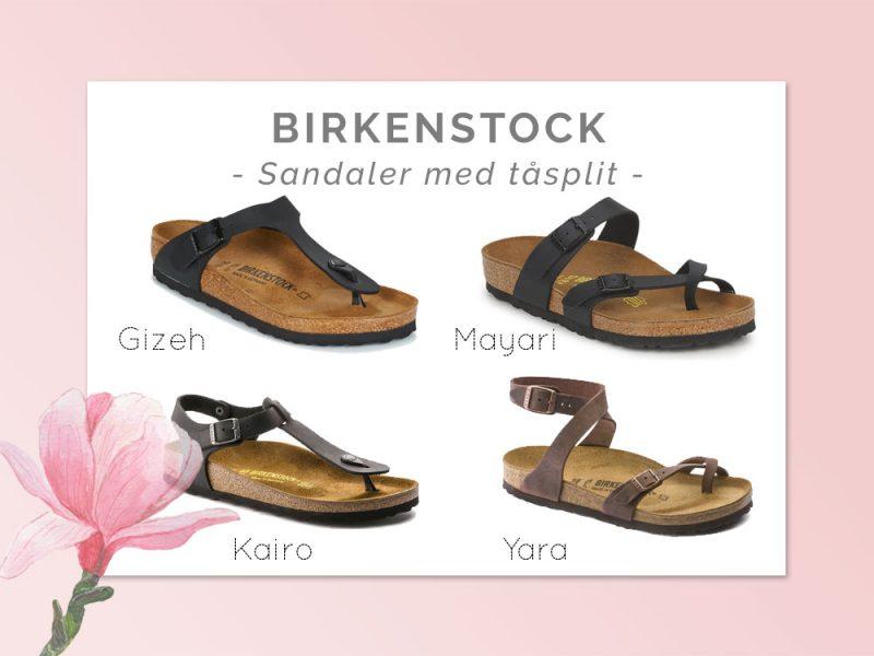 Birkenstock sandaler med tåspilt